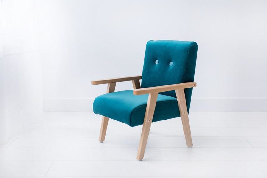 Bērnu klubkrēsls - Tirkīza