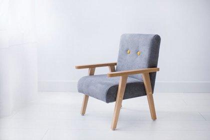 Bērnu klubkrēsls - Pelēks