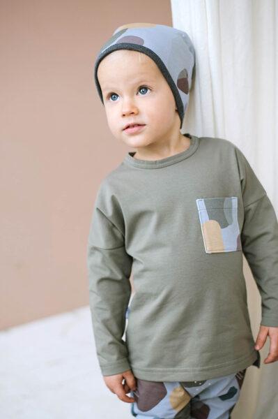 Krekls ar garām piedurknēm - Haki