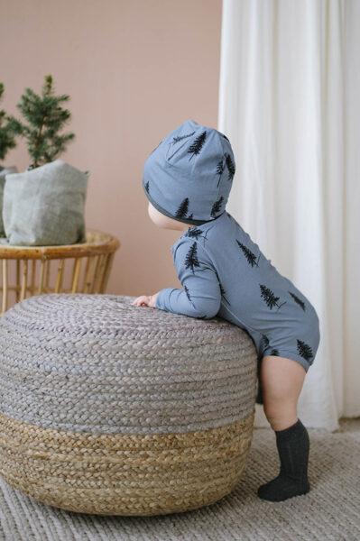 Beanie cepure - Zila ar eglēm