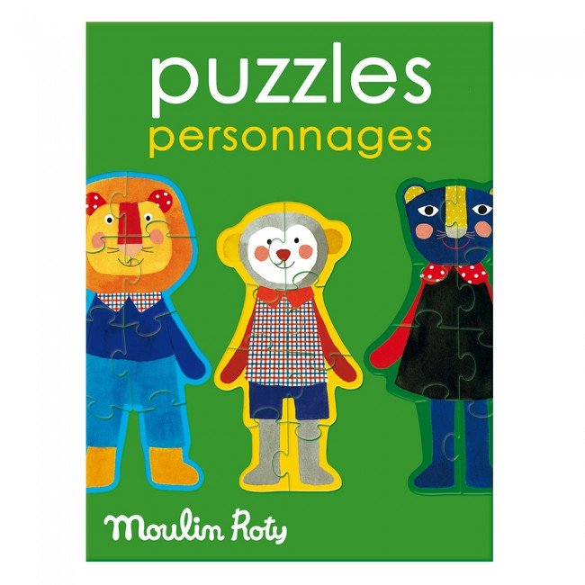 Moulin Roty - Personāžu puzle (4 vienības)