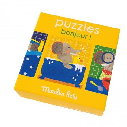 Moulin Roty - Zilonēna puzle (3 daļas.)