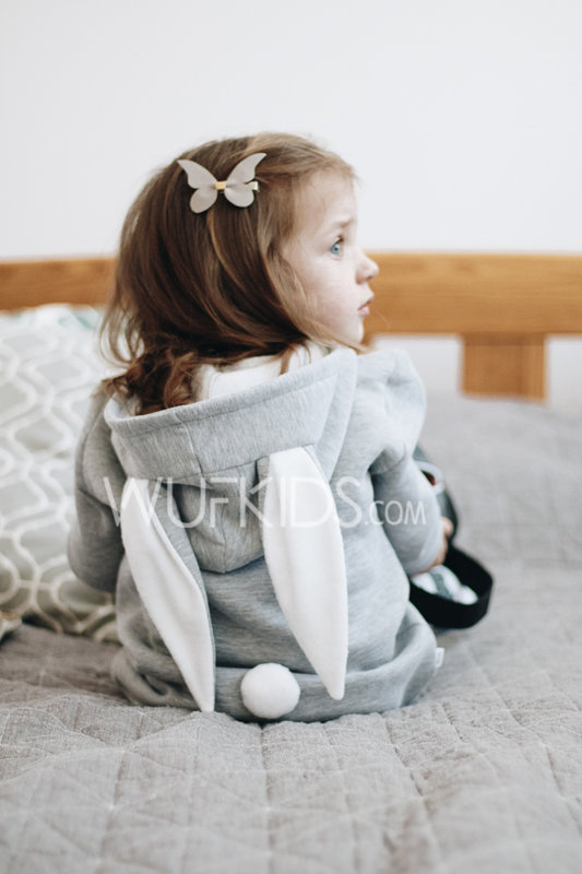 Bunny hoodie (size 68 - 92 cm)