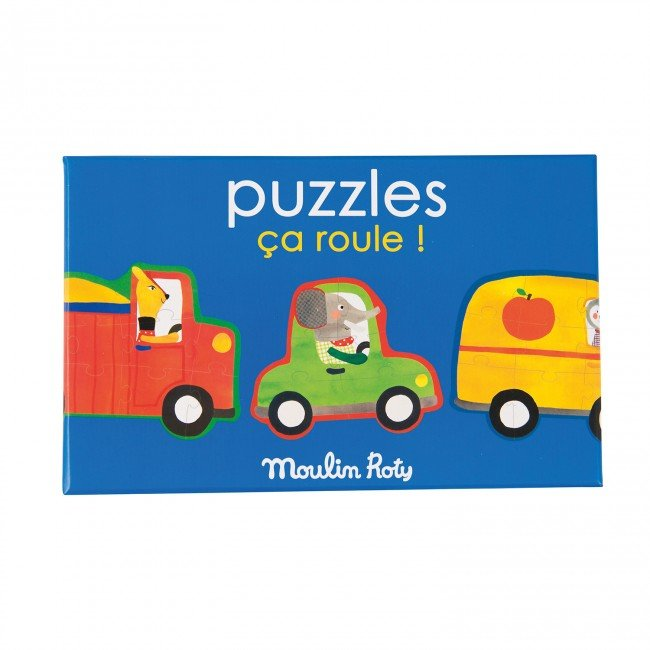 Moulin Roty - Mašīnu puzle (4 daļas)
